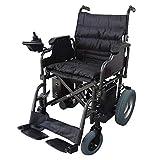 Silla de ruedas eléctrica, Plegable, Acero, Con motor, Para discapacitados, Auton. 20 km, 24V, Negro, Cenit, Mobiclinic