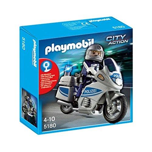 Playmobil Moto de Policía con luz