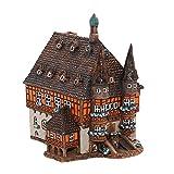 Dekohelden24 XXL Keramik- Lichthaus - Rathaus Wernigerode - HandArt - ca. Länge 20 cm x Breite 17 cm x Höhe 22,5 cm