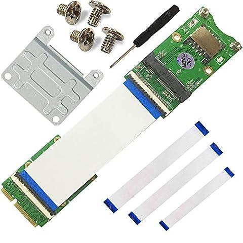 WEONE Ersatz Mini-PCI-Ex mSATA Flexible Exender Kabel mit