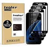 iVoler [3 Pack] Pellicola Vetro Temperato Compatibile con Samsung Galaxy S7, [Copertura Completa] Pellicola Protettiva Protezione per Schermo per Samsung Galaxy S7