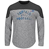 "Buffalo Bills Majestic NFL ""Corner Blitzer"" Men's Long Sleeve Gray Slub Shirt"