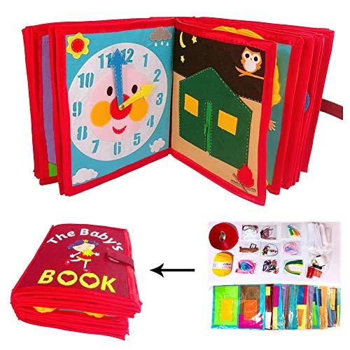 für Babys, Baby Toy Soft Activity Buch, Tuch Buch für Neugeborene Babys Kleinkinder Kleinkind, pädagogisches Lernspielzeug ()