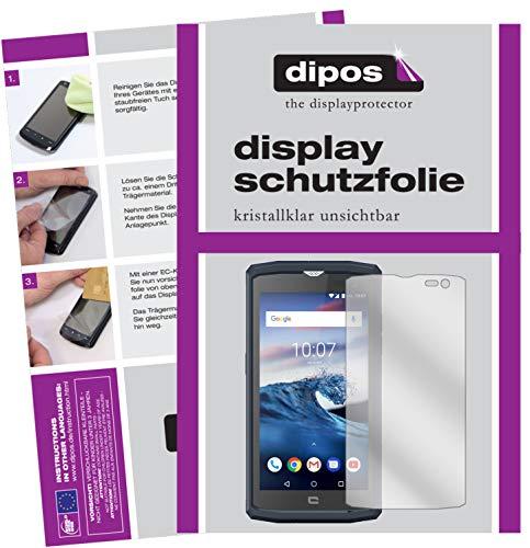 dipos I 2X Schutzfolie klar passend für Crosscall Core X3 Folie Bildschirmschutzfolie