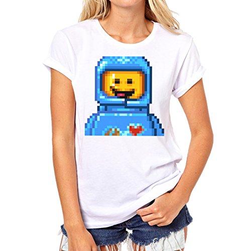 Benny Pixels Background Damen T-Shirt Weiß