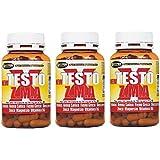 """3 Packung 70 g - 100 Tabletten NEW TESTO X ZMA Förderung der natürlichen Testosteron, trägt zur Steigerung der fettfreien Körpermasse und Abnahme der Fettmasse New TEXT X ZMA ist eine neue Formel auf der Grundlage - Tribulus terrestris (titriert protodioscin) - Avena Sativa - Hay griechisch - Dioscorrea - Zink - Magnesium - Vitamin B6 ist ein natürliches Stimulans von Testosteron und eine Ergänzung zu """"erhöhter Muskeltonus und der Anteil der fettfreien Körpermasse Ziel Bodybuilding"""