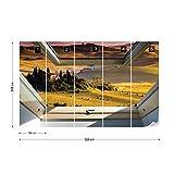 Toskana 3D-Dachfenster-Ansicht Vlies Fototape...Vergleich