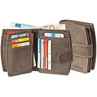 Woodland - lusso Compact Portafoglio donna con un sacco di tasche per le carte di (Portafoglio Compatto)