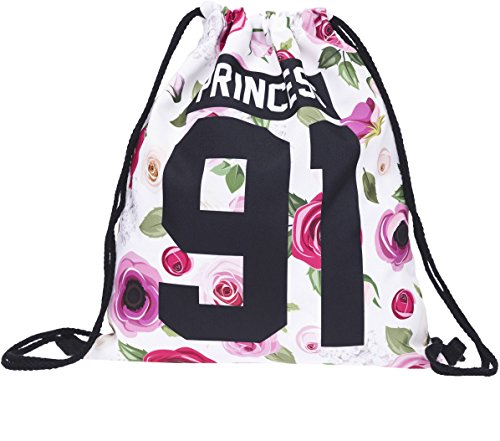Sacchetto Roses Princess 92Loomiloo Rose Fiori Sacca Gym Bag Sacco Gymsack Zaino Hipster Festival del Sacco di iuta Loomiloo š