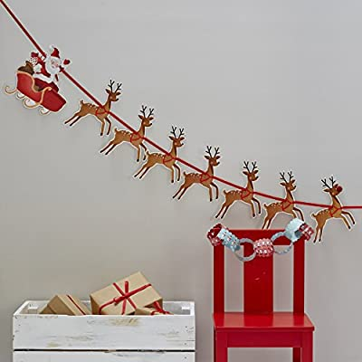 Santa`s Sleigh Ride Garland By Ginger Ray