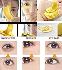 Fission Moisturizing Eye Patches Sheet Beauty Gold Crystal Collagen Eye Mask (Pack Of 15)