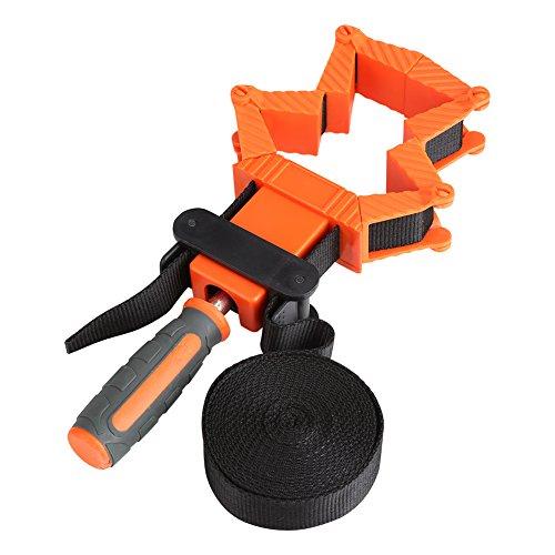Asixx Bandzwinge, Band Strap Clamp Holzbearbeitungsklammer aus Nylon mit Rutschfeste TPR Griff 35 ° bis 135 ° Flexibler Klemmblock (4m)