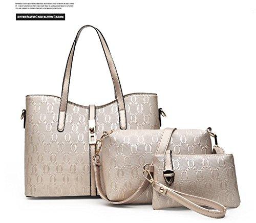 X&L Mode-Mutter Kind schräge Kreuz Tasche Handtasche Tasche Tasche Pack Gold