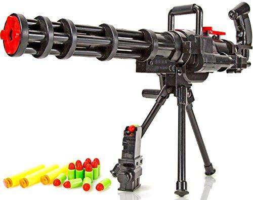 Spielzeug-Gewehr Maschinengewehr automatisches Soft-Dart Kinder-Gewehr 43 cm Softair Soft-Pfeil im Set mit Munition