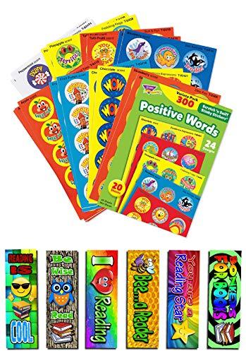 niff Belohnungsaufkleber, verschiedene Farben, inkl. 6 Lesezeichen für Kinder ()