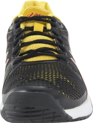 Asics Gel-Solution Speed 2 Clay Synthétique Chaussure de Course Black-Fiery Red-Yellow