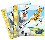 Disney Frozen Papier Servietten, 20Stück mit Sommer Olaf