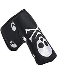Ruche Filtre crâne os Velcro Design Tête de putter de golf couvre-fer Housses pour s'adapter à toutes les marques TaylorMade Scotty Cameron Titleist Callaway Ping Lame de putter