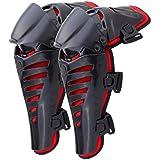 Iglobalbuy Motorrad Knieschützer Knieprotektor Knee Stützen Armschützer Protector Schutzausrüstung für Motocross Erwachsene schwarz MTB ATV 1 Paar rot