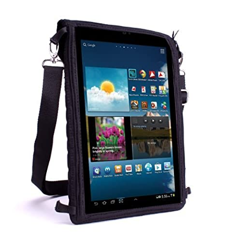 Tablet Bag Portable Carry Case and Messenger Sling with Touch-Sensitive Screen Protector by USA Gear - Fits all Apple iPad Air / 10