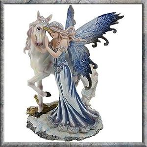 51vLhMhboWL. SS300  - Comfort Fairy & Unicorn 21.5cm ornament figurine by Nemesis Now (NEM3412)