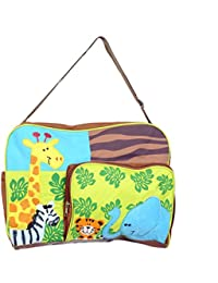 BabyGo Fancy Multipurpose Mother Mama Bag Baby Diaper Carry Bag For Travel, Clothes, Organizing And Feeding (Brown)