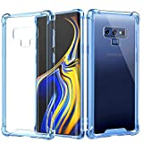 MoKo Samsung Galaxy Note 9 Hülle, [Kristall Durchsichtig Serie] TPU Handy Schutzhülle Schale Ultra Slim Crystal Phone Case Bumper für Samsung Galaxy Note 9 - Transparent Blau und Klar