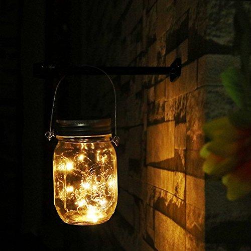Unim solar mason jar string lights (vasetto e maniglia inclusi)–10luci led impermeabile appeso vaso e luce percorso garden outdoor lanterna solare & lanterna da tavolo