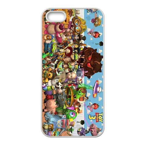 iphone5 5s White phone case Disney Cartoon Comic Series Toy Story QBC3077051