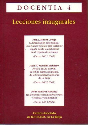 LA FINANCIACIÓN AUTONÓMICA: UN ACUERDO POLÍTICO PARA VERTEBRAR ESPAÑA DESDE LA ESTABILIDAD EN EL REPARTO DE RECURSOS / NOTAS A LA LEY 4/1998, DE 18 DE MARZO, DEL MENOR, DE LA COMUNIDAD AUTÓNOMA DE LA RIOJA / LAS DESTREZAS COMUNICATIVAS ORALES Y ESCRITAS,