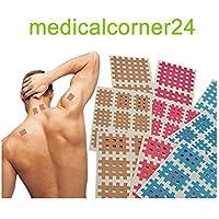 Medicalcorner24 18 Bögen in Blau Gitterpflaster, Akupunktur-Pflaster, Cross Tape, Cross Patch, Kinesiologie Gittertape... preisvergleich bei billige-tabletten.eu