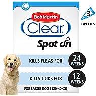 Bob Martin Flea & Tick Clear Fipronil Spot-on for Large Dog, 3 Tubes
