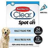 Bob Martin Clear Flea & Tick Fipronil Spot On for Large Dog, 3 Tubes