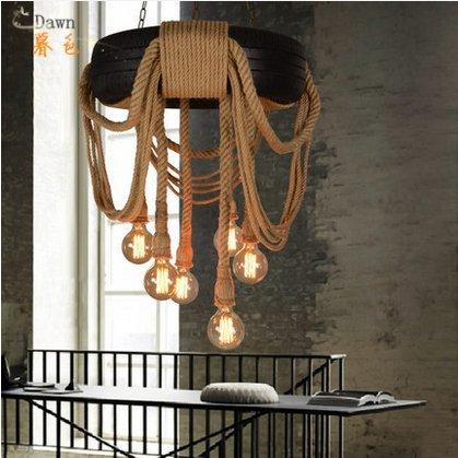 american-creative-recreation-retro-iron-rope-tire-discounts-chandelier-decorative-lighting-living-ro