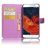 GARITANE Meizu Pro 6 Plus Hülle Case Brieftasche mit Kartenfächer Handyhülle Schutzhülle Lederhülle Standerfunktion Magnet für Meizu Pro 6 Plus (Lila)