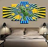 JSBVM 5 Panel Abstrakt Kaktus Poster Leinwanddruck Spiel Final Fantasy Bild Für Zuhause Dekorativ Wandkunst Modern Wohnzimmer Malerei