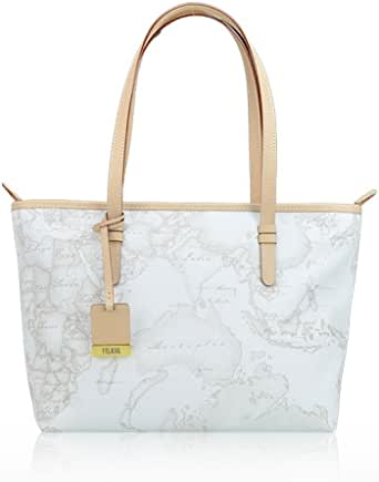 BORSA PRIMA CLASSE ALVIERO MARTINI GEO WHITE SHOPPING MEDIA CD0066188