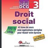 Carres Dcg 3 - Droit Social 2014-2015
