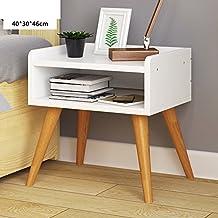 Cajón de la mesa de alta Simple moderno Asamblea Estilo europeo Gabinete de cabecera de madera del pie Mini gabinete del cubo Gabinetes-A 40x30x46cm(16x12x18inch)