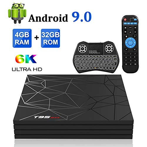 Android TV Box,T95 MAX Android 9.0 TV Box 4GB RAM/32GB