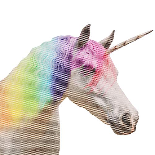 Thumbs Up Ride with Unicorn–Vinilo de Ventana Unicornio