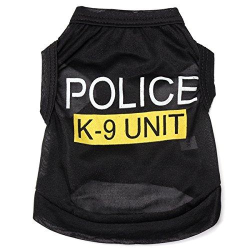 Kostüm Welpen K9 - Tutoy Mode Polizei K-9 Einheit Welpen Hund T-Shirts Haustier Sommer Kleidung Kleidung Kostüme -M