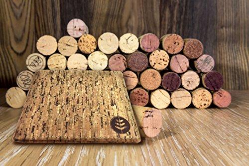 Lederfreie Geldbörse mit RFID-Schutz - klassisches & Vintage Design für Herren - aus natürlichem Kork hergestellt - stylishes Portemonnaie mit Kartenfächern & Geldscheinfach - vegan & umweltfreundlich - 5