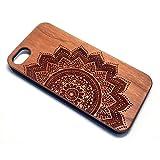 BTHEONE Wood Hard Coque Case pour Apple iPhone 5, Bois Véritable + PC Bumper Dur...