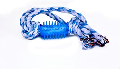 Pets Empire Cotton And Rubber Dog Chew Rope Pet Tough Toy For Small To Medium Dogs Tug Of War