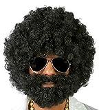 parrucca afro con la barba nera