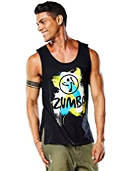 Zumba Fitness Mens Rio Tank - Camiseta para hombre, color negro, talla S