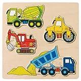 Goki 57901 - Einlegepuzzle - Baufahrzeuge