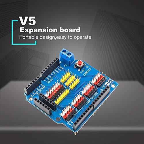 Yaoaomon Scudo per Scheda di espansione Scudo sensore per modulo elettronico Arduino Uno R3 V5.0 Blu