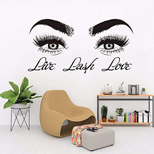 Wandaufkleber Vinyl Aufkleber Wimpern Augen Decor Beauty Salon Zitate Schlafzimmer Wohnzimmer Dekoration Poster 42 * 81 Cm ()